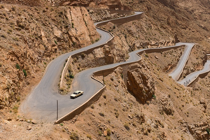 Morocco Winding Highway Photo nuno-silva-