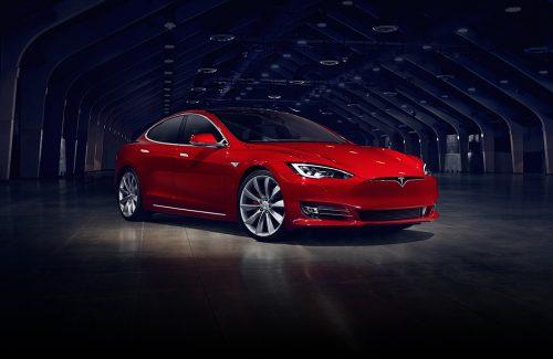 Car Tesla. Model S, Model 3.