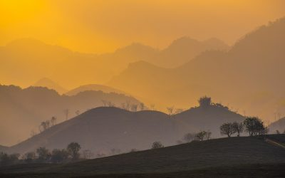 Vietnam Mountains bathed in yellow light photo by linh-pham