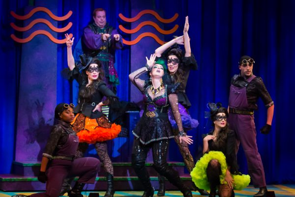 Eddie Glen as Randy (top), Sara-Jeanne Hosie as Sulphura The Wicked Witch of the West and her Minions 2.